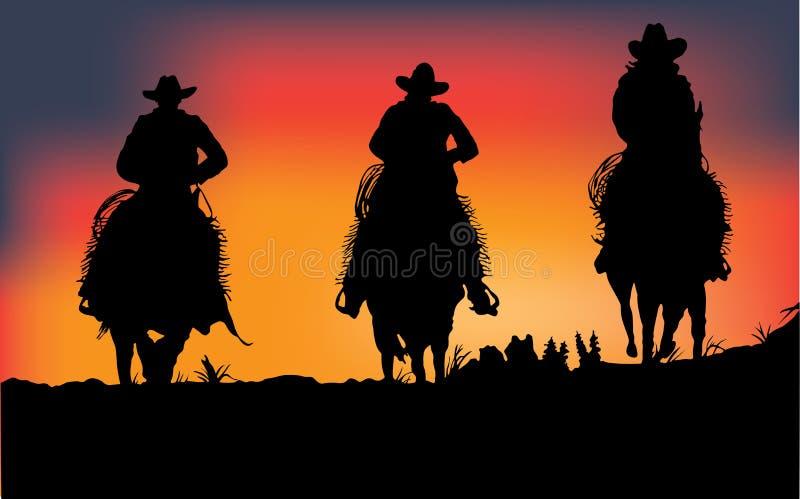 Cowboys illustration libre de droits