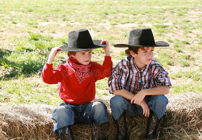 Cowboys photo libre de droits