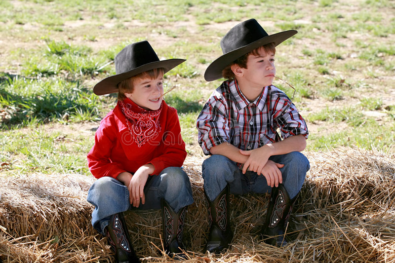 Download Cowboys stock image. Image of childhood, jeans, handsome - 7393755