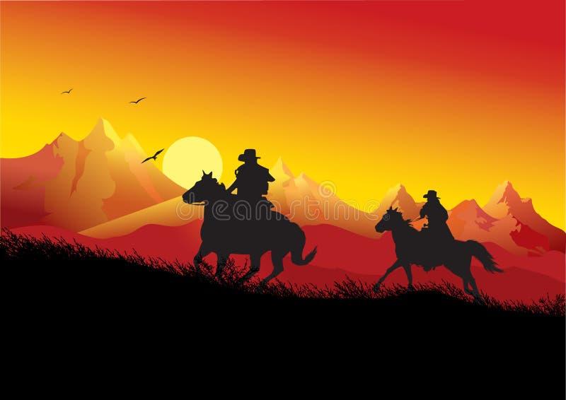 Cowboys vector illustration