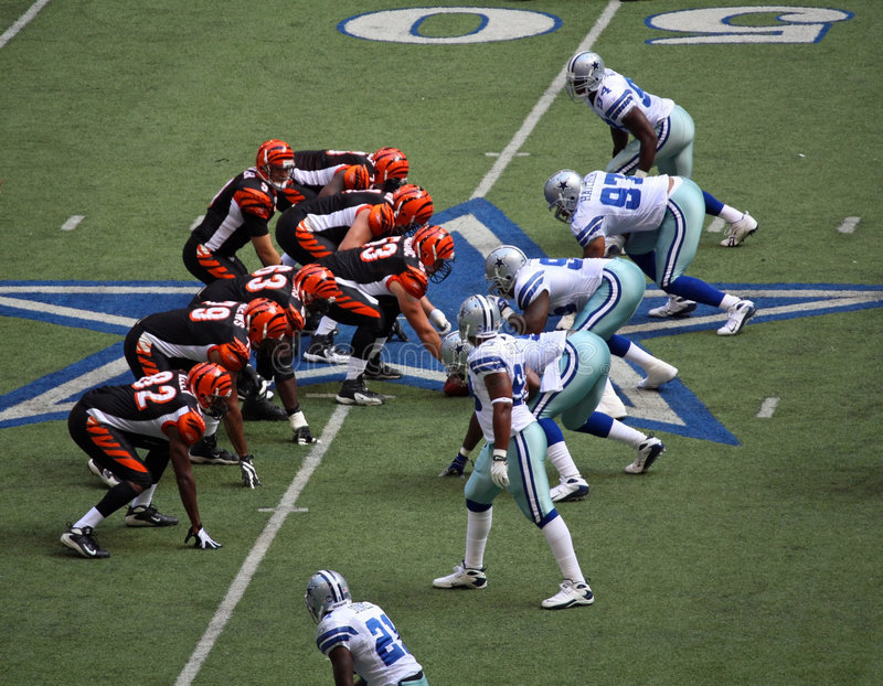 Cowboys and Bengals Line Up stock photography