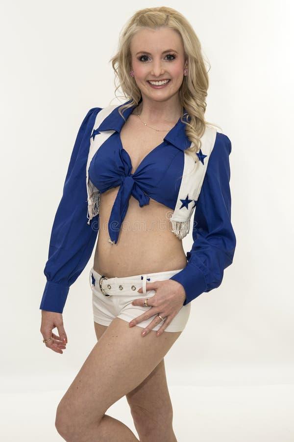 Cowboys cheerleader royalty-vrije stock afbeeldingen