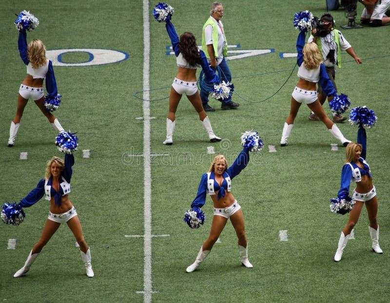 Cowboys Cheerleaders and Camera Men stock image