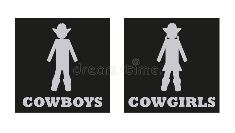 Cowboy /& Cowgirl Door Signs Ladies And Gents Restroom Bathroom door Signs