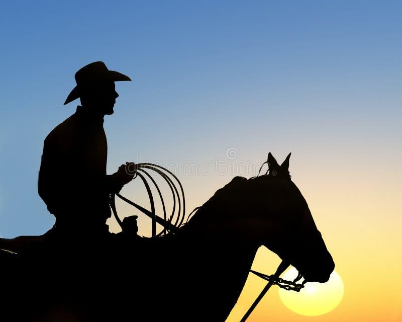 Download Cowboys Rides Away stock illustration. Image of sunset - 6148501