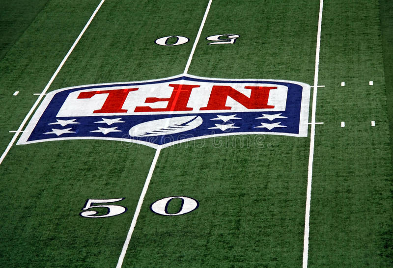 Cowboys Stadium 50 Yard Line stock photos