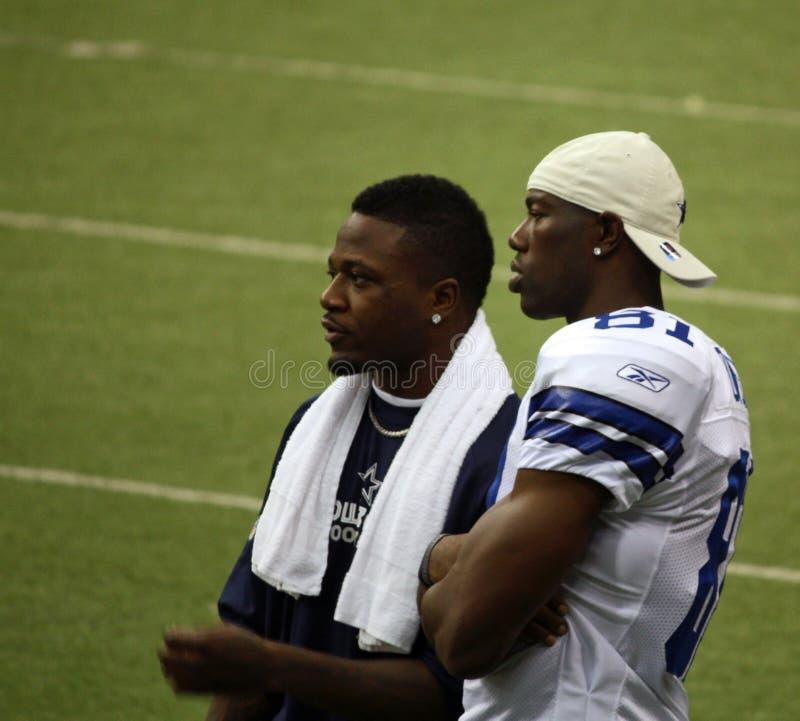 Cowboys Terrell Owens e Pacman Jones imagem de stock