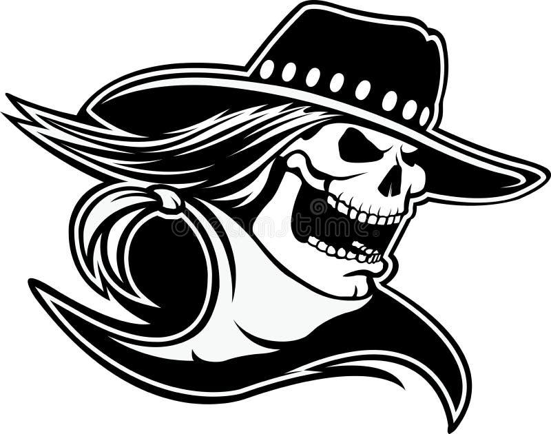 Cowboyschedel stock illustratie