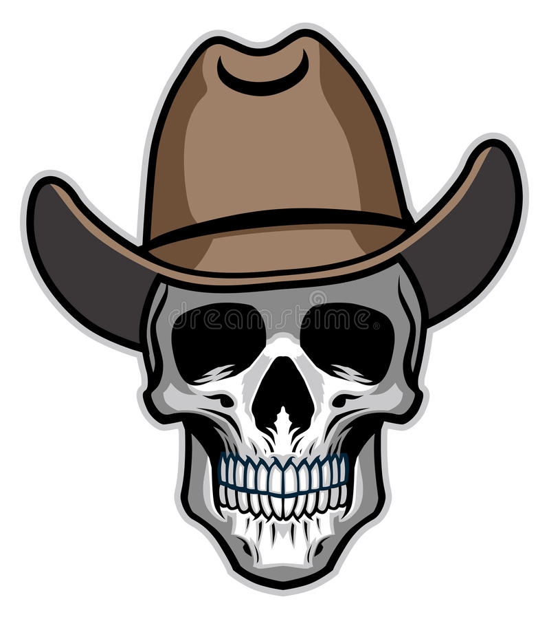 Cowboyskalle royaltyfri illustrationer