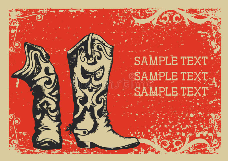 Cowboystiefel stock abbildung