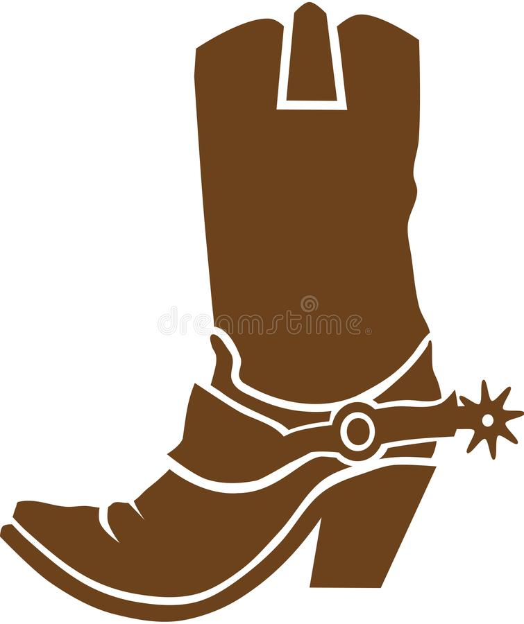 Cowboystiefelvektor stock abbildung