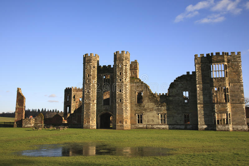 Cowdray Ruins in Midhurst, West Sussex, England. Cowdray Ruins in Midhurst, England royalty free stock images
