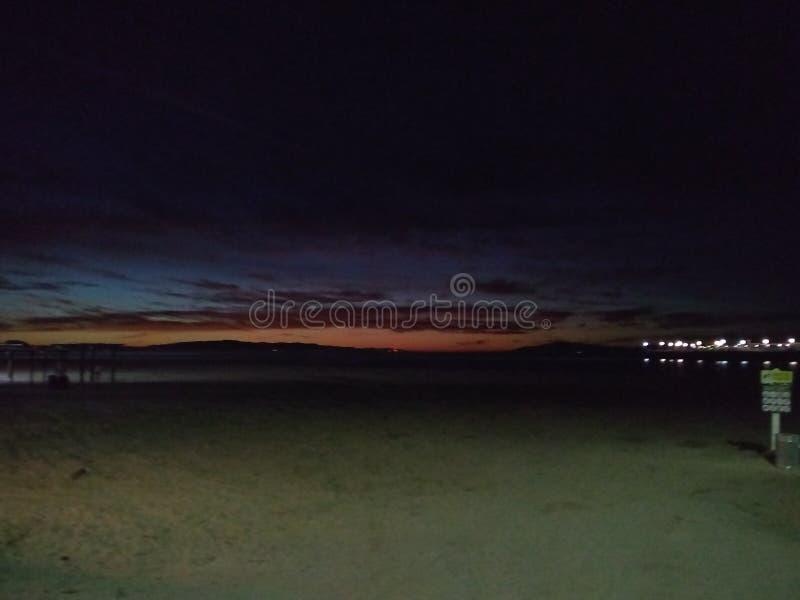 Cowells海滩圣克鲁斯,加州 免版税库存照片