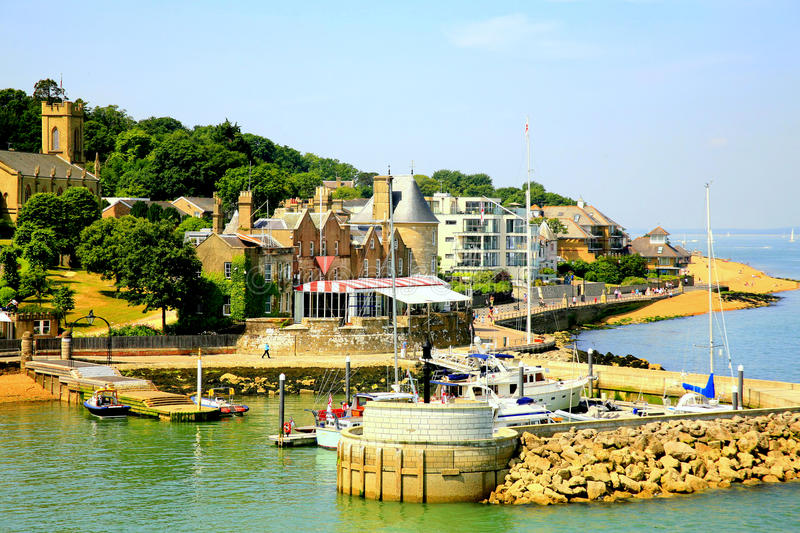Cowes Castle, Isle of Wight. Cowes Castle is the home of the Royal Yacht Squadron one of the most prestigious Yacht clubs in the World and organiser of the stock image