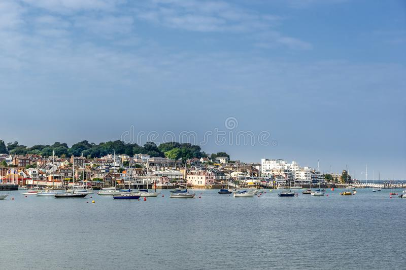 Cowes na ilha do Wight fotos de stock royalty free
