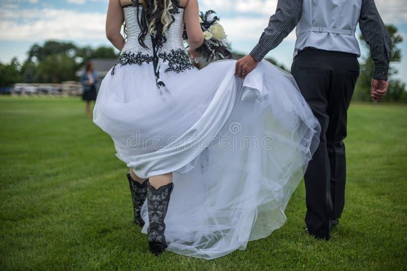 Cowgirl ślub fotografia stock