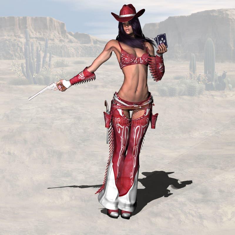 cowgirl 13 διανυσματική απεικόνιση