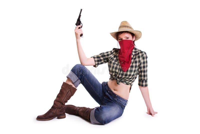 cowgirl royaltyfria foton