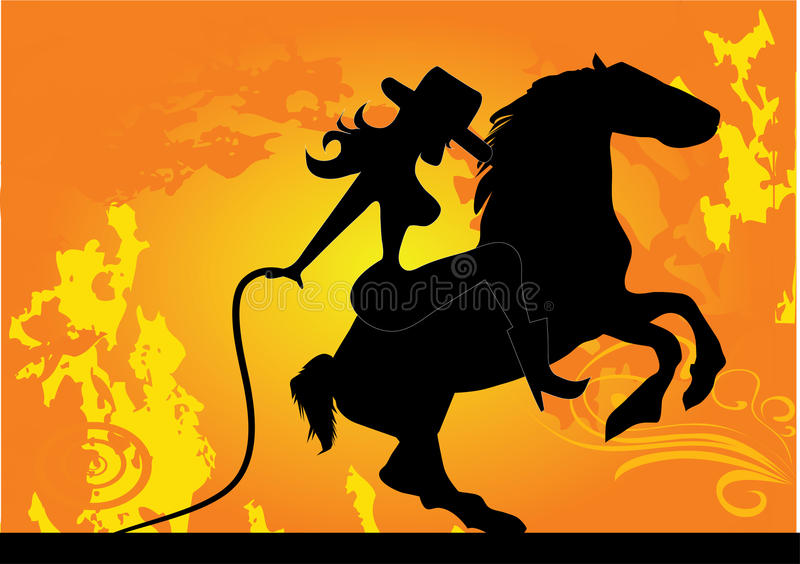 Cowgirl stock illustration