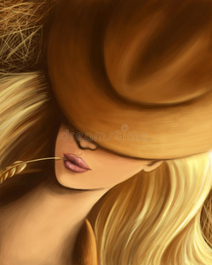 Cowgirl illustrazione vettoriale