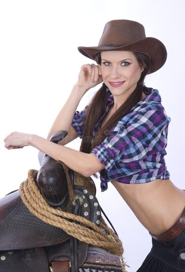 Cowgirl 2 schietti fotografia stock