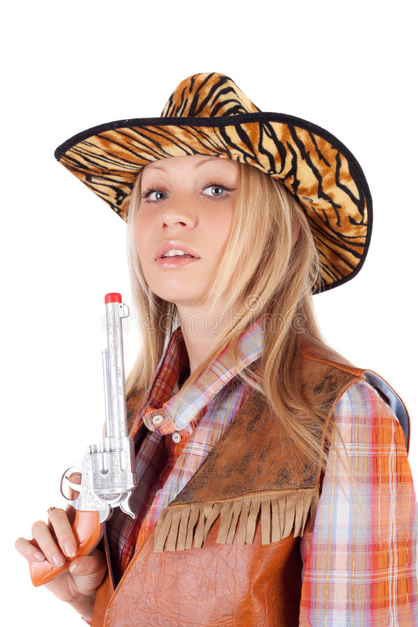 Download Cowgirl stock photo. Image of model, happy, fresh, bosom - 23875698