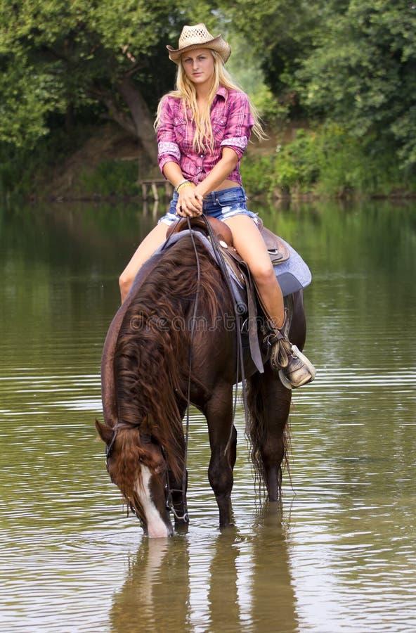 Cowgirl stockfotografie