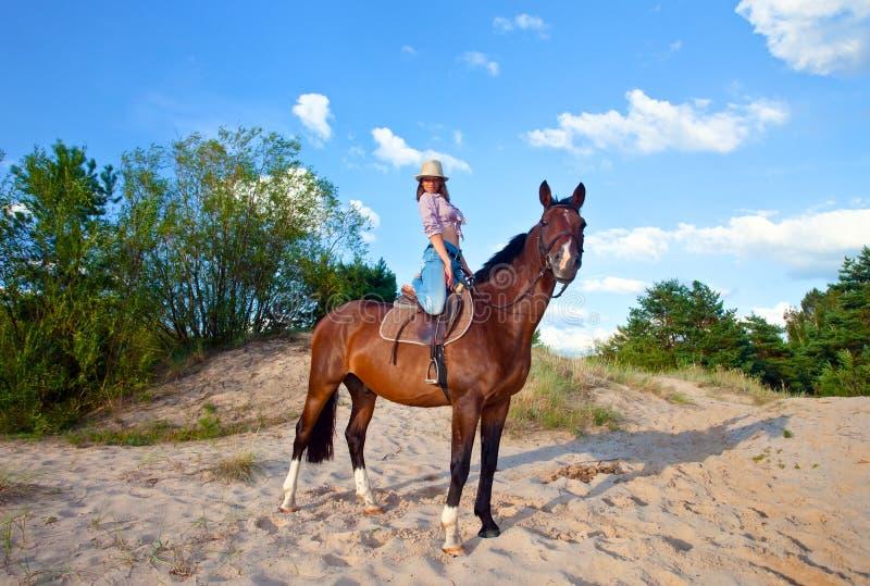 Cowgirl stockfoto