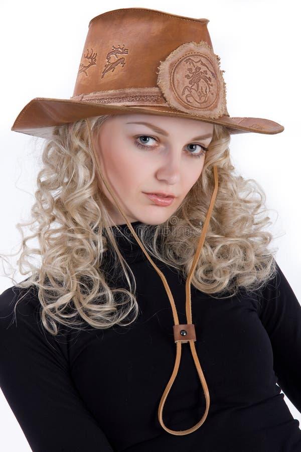 cowgirl arkivbild