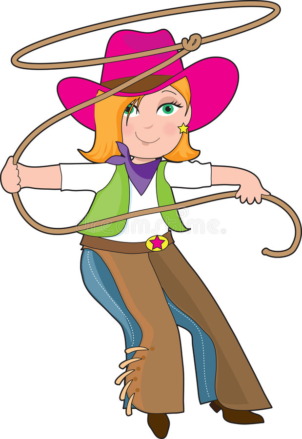 Download Cowgirl stock vector. Image of smile, country, woman, girl - 8498383