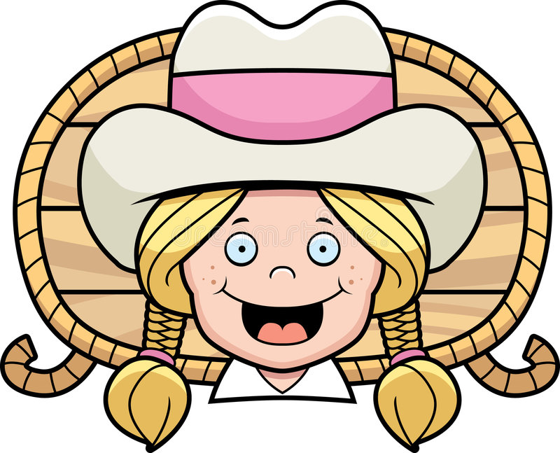 Cowgirl stock illustration