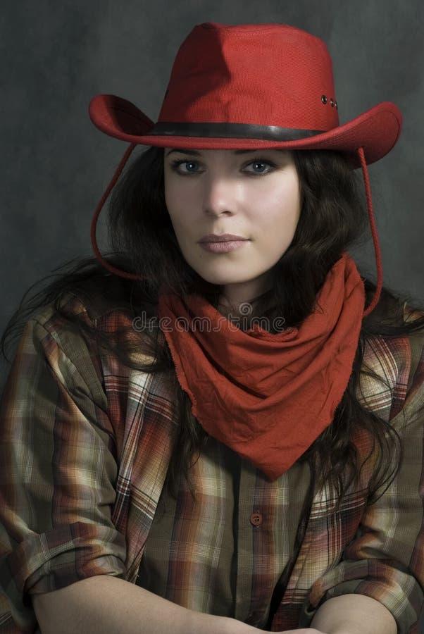 Cowgirl americano fotografie stock