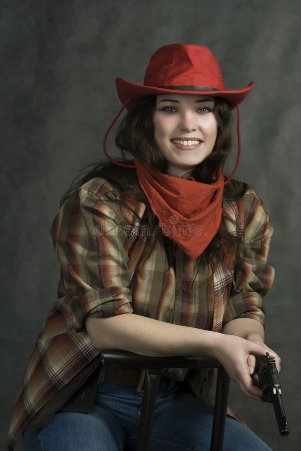 Cowgirl americano imágenes de archivo libres de regalías
