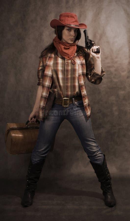 Cowgirl americano immagini stock