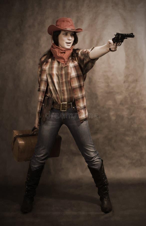 Cowgirl americano immagini stock libere da diritti