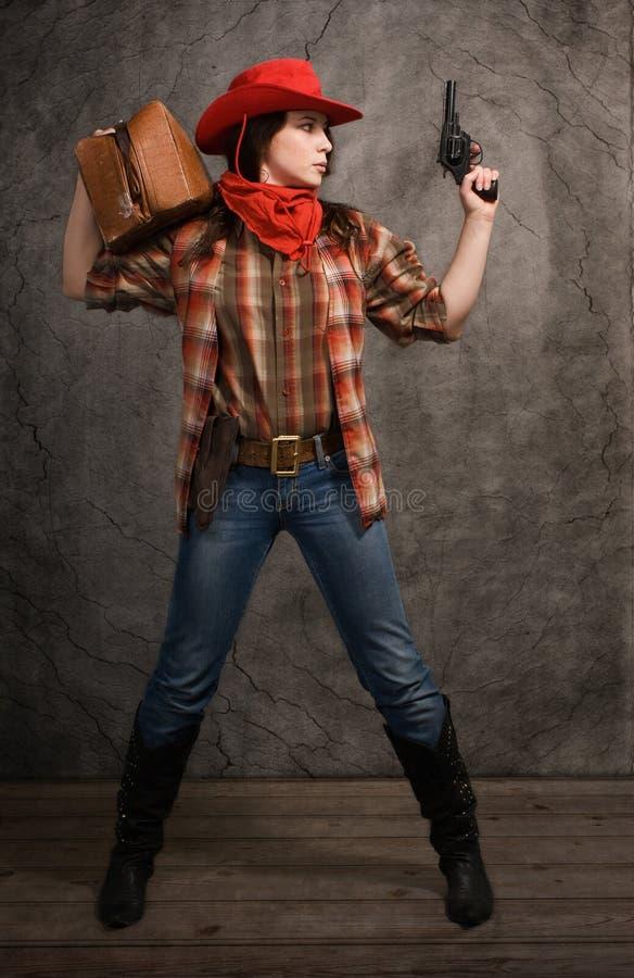 Cowgirl americano imagen de archivo