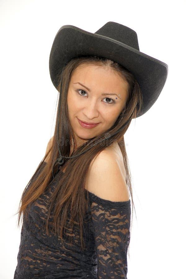 Cowgirl asiático fotografia de stock