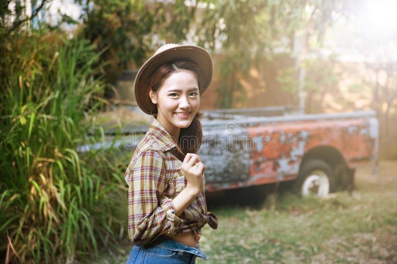 Cowgirl royalty free stock photography