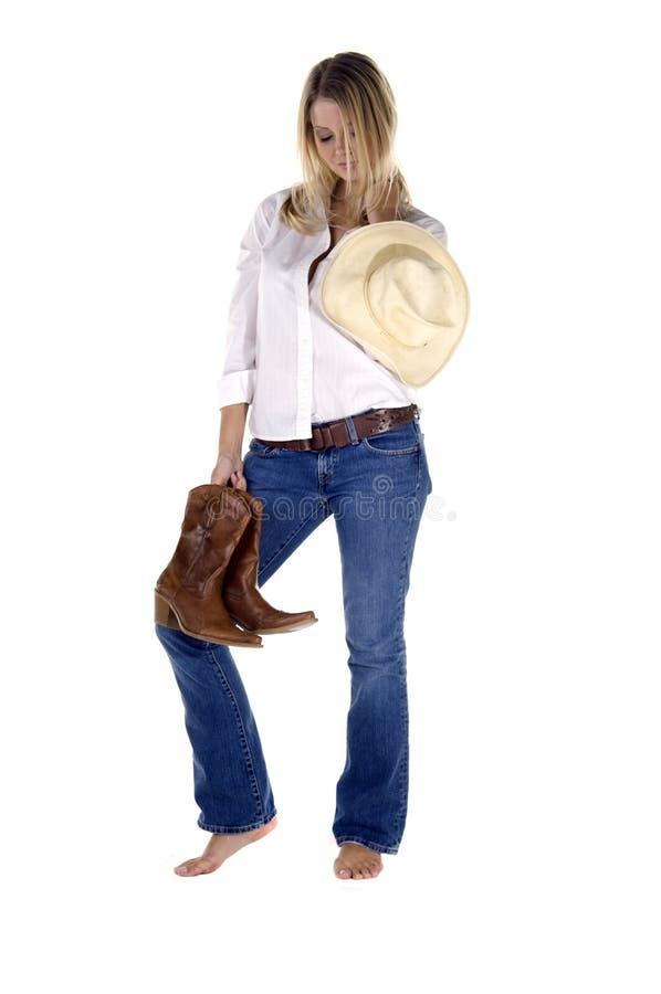 Cowgirl casuale fotografia stock