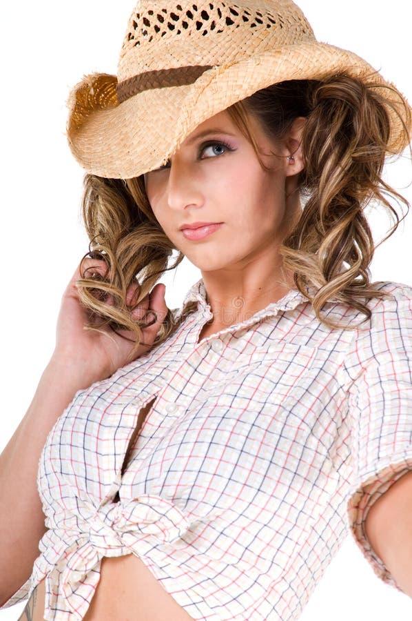 Cowgirl casuale fotografie stock