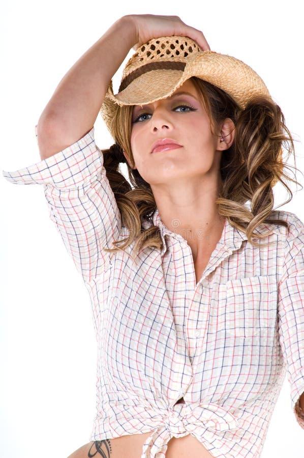 Cowgirl casuale fotografia stock libera da diritti