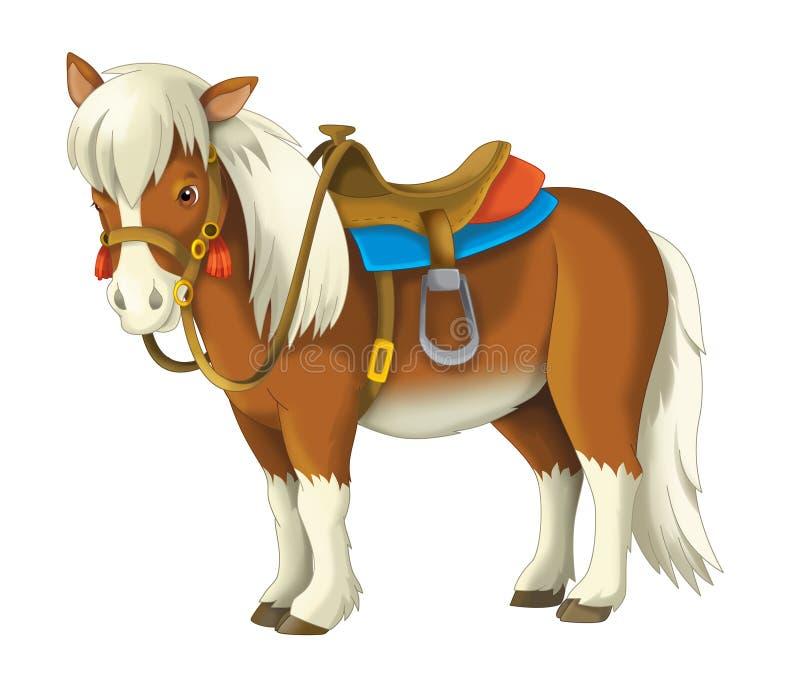 Cowgirl - cowboy - löst västra - illustration för barnen royaltyfri illustrationer