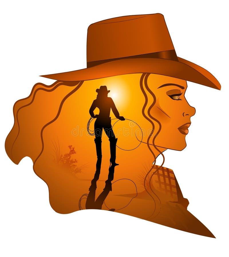 cowgirl damy western zdjęcia royalty free
