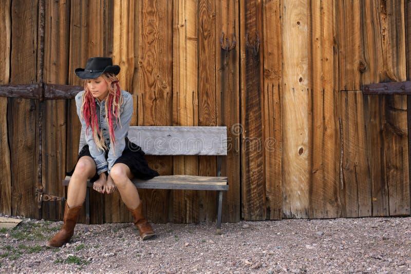Cowgirl de Nevada foto de stock royalty free