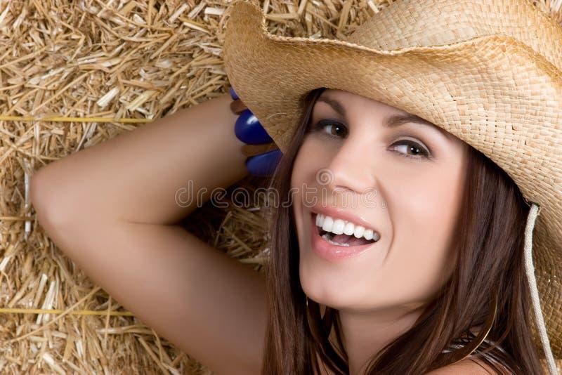Cowgirl de riso foto de stock
