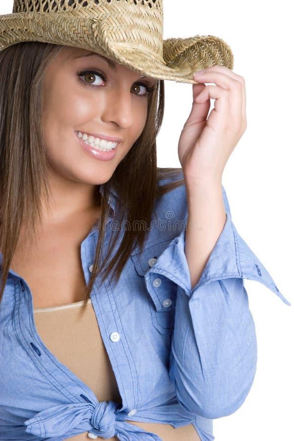 Cowgirl de sorriso fotos de stock