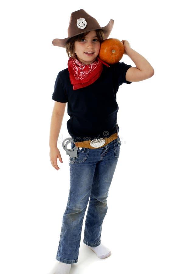 Cowgirl della zucca immagini stock libere da diritti
