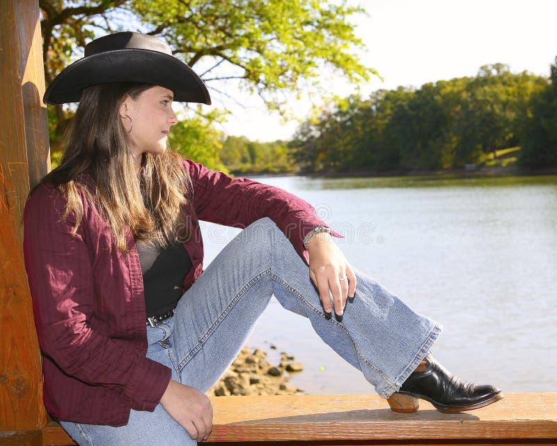 Cowgirl fora fotografia de stock