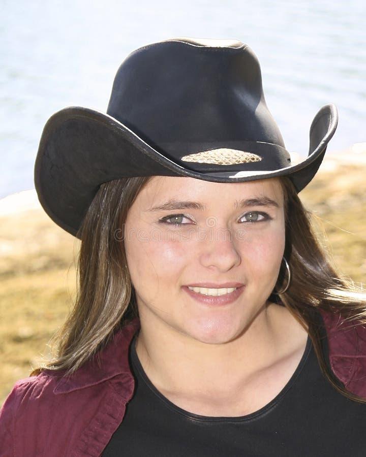 Cowgirl fora foto de stock