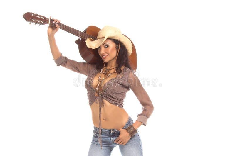 Cowgirl-Gitarre Lizenzfreies Stockbild